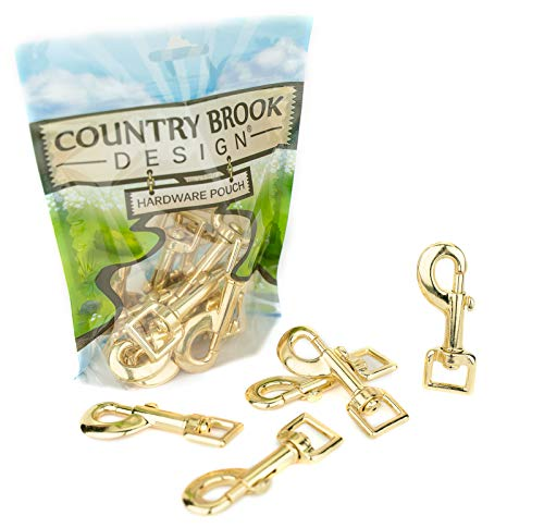 (10 - Country Brook Design | 5/8 Inch Brass Plated Heavy Swivel Snap Hooks)