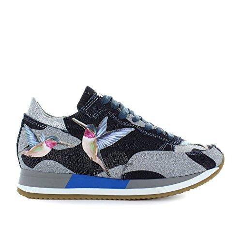 Philippe Modella Di Biancheria Intima Etoile Uccello Tropicale Blu / Argento Sneaker Primavera-estate 2018