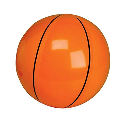 Inflatable Basketballs ~ 1DZ Basketball inflates ~ 16 inches ~ Sports Themed Birthday Favor ~ Decor Pool Beach Party Toy Prize Giveaway ~ New ~ BEACHCBALLS!!