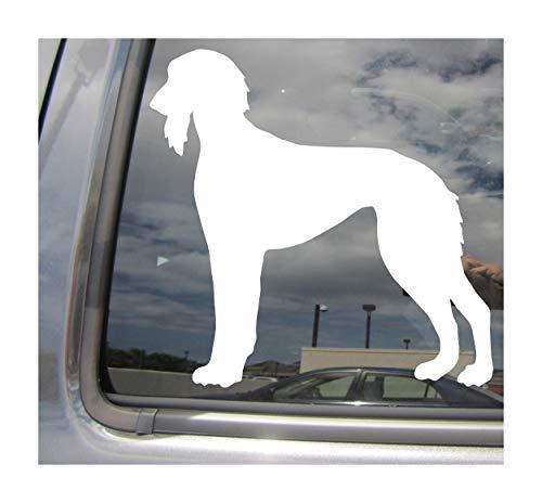 (- Saluki Dog - Sighthound Pure Breed Purebred Puppy - Cars Trucks Moped Helmet Hard Hat Auto Automotive Craft Laptop Vinyl Decal Store Window Wall Sticker 01669)
