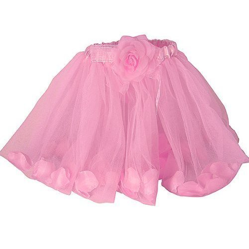 - Girls Pink Rose Fairy Tutu with Petals Pink Ballet Tutu by Lil Princess