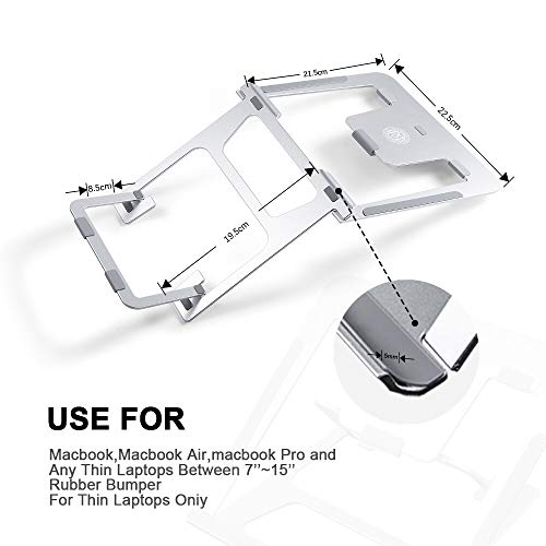 Ming Haidi Laptop Stand,Update Version 6-Level Adjustable Laptop Stand Aluminum Ventilated Laptop Holder,Portable & Foldable Laptop Stand,Laptop Holder Compatible with 7 inch to 15 inch Laptop Photo #3