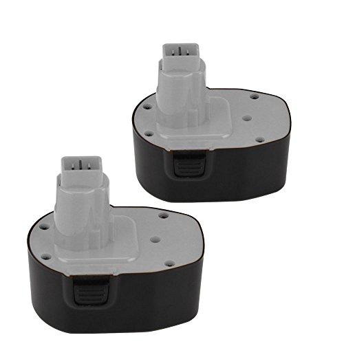 Topbatt 2Packs 144V 30Ah NI-MH Battery for Dewalt XRP DW9091 DW9094 DC9091 Cordless Power Tools