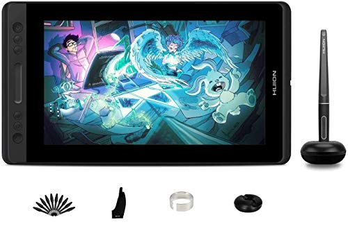 HUION Kamvas pro 12 (Ohne Stander) Grafiktablett mit Display, 11,6 Zoll HD-ildschirm Grafikmonitor mit 4 Schnelltasten, Digitalsti mit Neigefunktion unterstitzt Ideal fur Home-Office & E-Learning