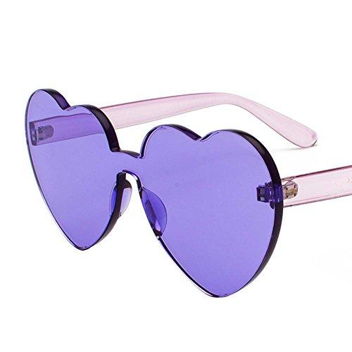 Aoligei Lunettes de soleil Europe et aux États-Unis, la personnalité de morceau de pc de femmes lunettes de soleil océan de l'amour