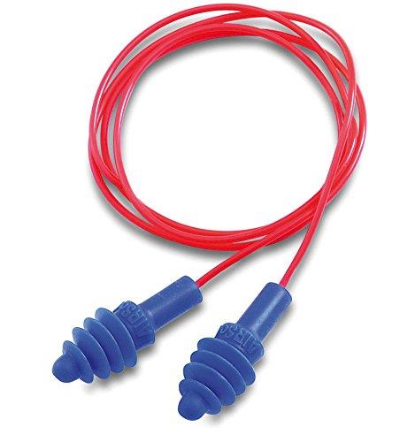 paquete de 50 pares Honeywell 1030612 Howard Leight tapones para los o/ídos de PVC AirSoft multiusos con cable en cajas individuales