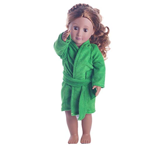 (PSFS Doll Clothes Cute Soft Robe for American Girl, Fits 18