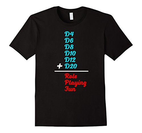 Mens Dungeon Dice tshirt Role Playing and math t-shirt Dr...