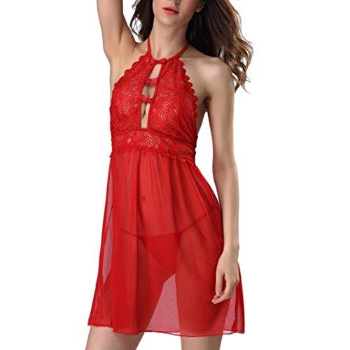 DongDong Hot Sale! Womens Sexy Lingerie Sleepwear Lace Nightwear G-String Dress Underwear (Star Wars White Suit Guys)