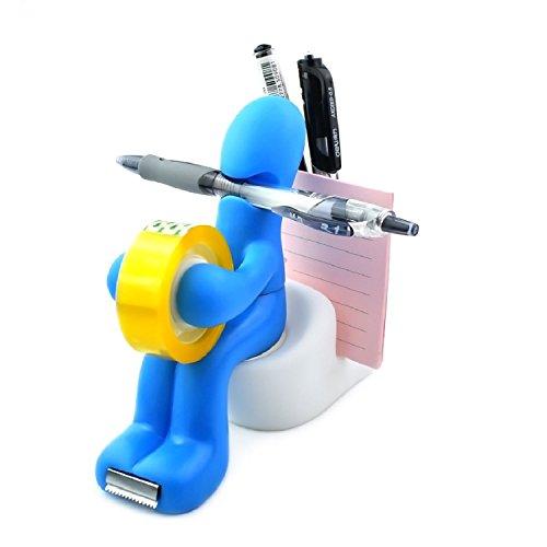Thenese The Butt' Office Supply Station Desk Accessory Holder Butt Station Pen Holder for Desk, Blue ()