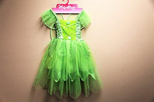 [Jason Party Girls' Princess Dress Green 4-6 years] (Fairy Dress For Kids)