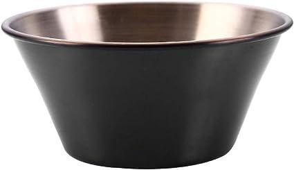 Dip Bowls Melamine Ramekins Black 2oz Condiment Pots Sauce Ramekins Set of 12