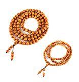 HZMAN 2Pcs Couple 108 Natural Wood Beads Bracelet Buddhist Rosary Mala Necklace Prayer Meditation Yoga