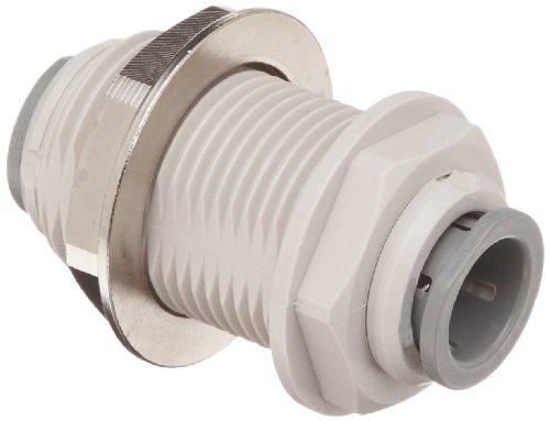 John Guest Union Connector - John Guest Acetal Copolymer Tube Fitting, Bulkhead Union, 3/8