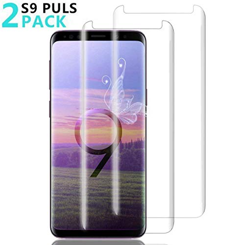 [2 Pack] Samsung Galaxy S9 Plus Screen Protector, EcoPestuGo [Anti-Scratch] [High Definition] [Bubble Free] [Anti-Fingerprint] Tempered Glass Screen Protector for Samsung Galaxy S9 - Scratch Guard Anti Dust