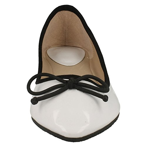 Flat Flat Hvit Ballerina Tå Tå Spiss Ballerina Spiss BCqSwT