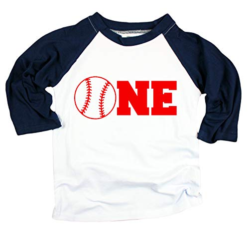Baseball One Boys Birthday Shirt 1st Birthday Shirt Boys Blue Baseball T Shirt for Boys 1st Birthday Shirt, Blue, 12 Months