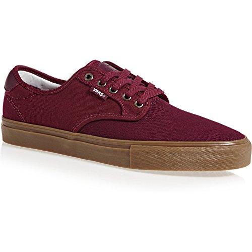 Vans Men's Chima Estate Pro Ankle-High Suede Skateboarding Shoe (13 D(M) US, Port/Cabernet/Gum)