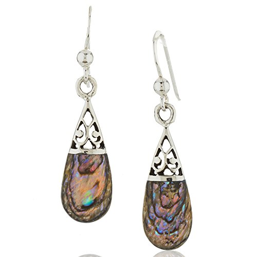 Sterling Silver Abalone Shell Drop - 3