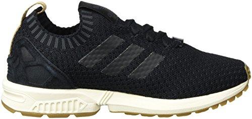 adidas Unisex-Erwachsene ZX Flux Primeknit Sneaker Low Hals, Schwarz (Core Black/Core Black/Gum), 37 1/3 EU