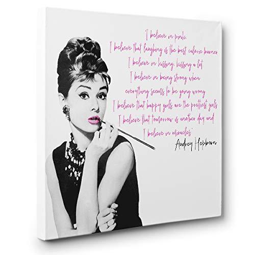 Audrey Hepburn Motivational Quote Canvas Wall Art