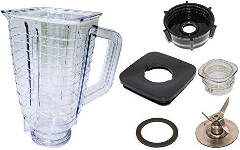 Blendin 5 - Jarra mezcladora completa, de plástico y resistente a ...