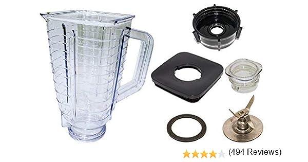 Blendin 5 - Jarra mezcladora completa, de plástico y resistente a la rotura Se adapta a los modelos de la marca Oster.: Amazon.es: Hogar