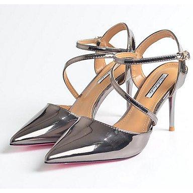 Chaussures ggx à Décontracté Talons Confort Confort Noir Printemps silver Plat LvYuan Femme Polyuréthane Argent EtqwBndx