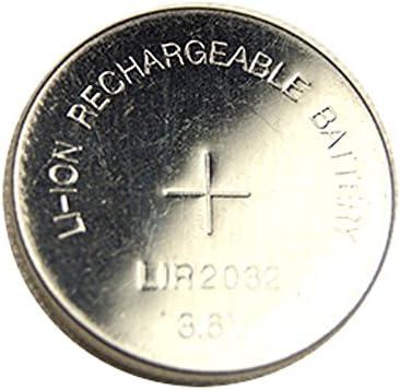 Li-Ion LIR2032 CR2032 Batería de botón Recargable 3,6 V - Unidades ...