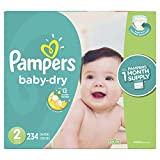 Diapers Size 2, 234 Count - Pampers Baby Dry