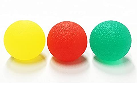 Hand exercise Grip Balls hand Therapy Stress Balls ( Set of 3 )