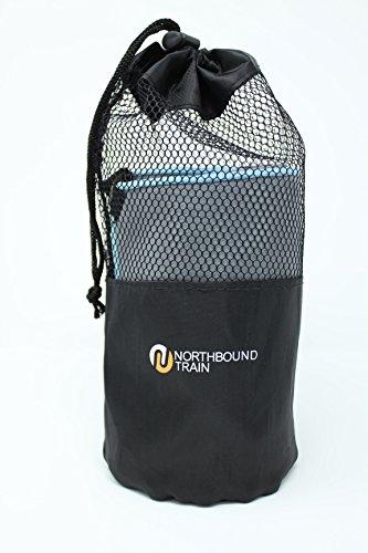 Northbound Train Camping Towel Set with Quick Dry Technology. Pack Towel and Travel Towel. Large Microfiber Towel and Sport Towel Included