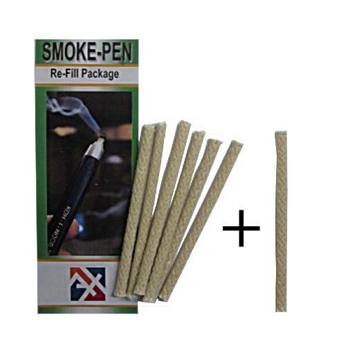 FREE BONUS WICK + Regin S221 Refill Replacement Wick 6-Pack. 7 wicks for the price of 6! Use with Regin S220 Smoke Pen. Test airflow patterns, exhaust hood function, air leaks around window & doors. MeterMall USA