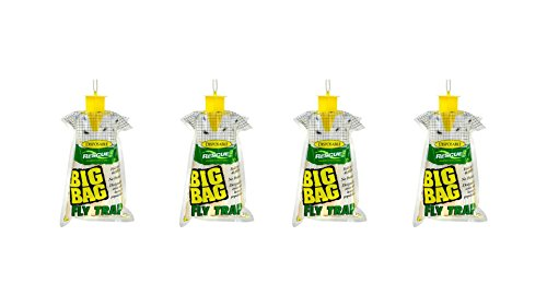 RESCUE! Sterling Disposable Big Bag Fly Trap Set of 4 by RESCUE!