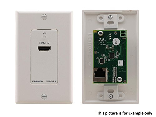 Audio Active Wall Plate - Kramer WP-571(B) Active Wall Plate HDMI over Twisted Pair Extender (Transmitter)/Black