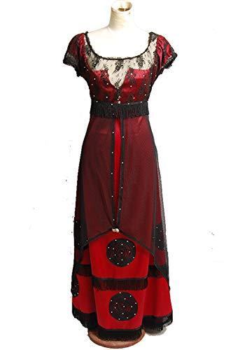 GOTEDDY Women Halloween Rose Jump Dress Cosplay Costume Victorian (M) ()