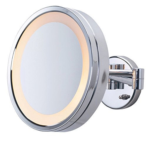 Jerdon HL8C 3X Magnification Lighted Direct Wire Wall Mount Mirror, Chrome by Jerdon