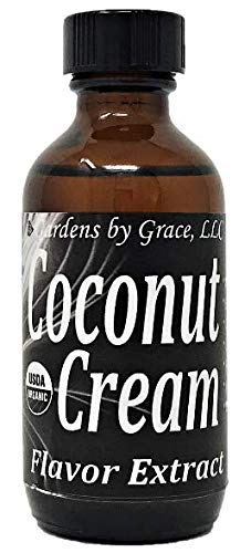 Organic Flavor Extract Coconut | Use in Gourmet Snacks, Candy, Beverages, Baking, Ice Cream, Frosting, Syrup and More | GMO-Free, Vegan, Gluten-Free, 2 oz