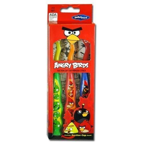 3pk Angry Birds ventouse Brosse à dents