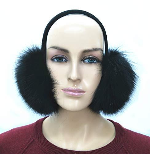 (Real Fox Fur Earmuff (Black))