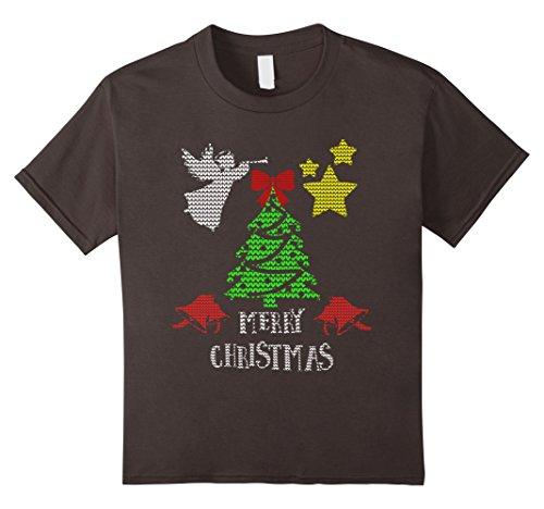 Bell Boy Costume Pattern (Kids Christmas Shirt Traditional Xmas Ugly Sweater Knit Pattern 4 Asphalt)