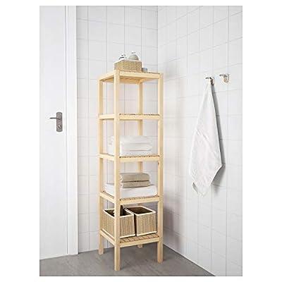 Wooden Concept ZJ-MJ003 Open Wood 4 Tiers Multifunction Storage Rack Shelving Unit Natural