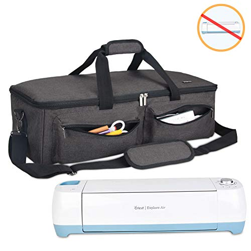 Luxja Carrying Bag Compatible with Cricut Explore Air and Maker, Tote Bag Compatible with Cricut Explore Air and Supplies (Bag Only, Patent Pending), Black