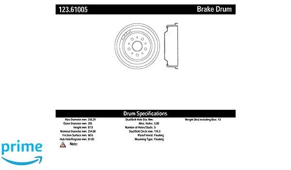 Centric Parts 123.65043 Brake Drum