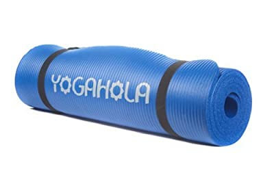 YogaHola Premium Ultra Thick n' Soft Eco Friendly Yoga Pilates Exercise / Workout Mat w/ Carry Strap