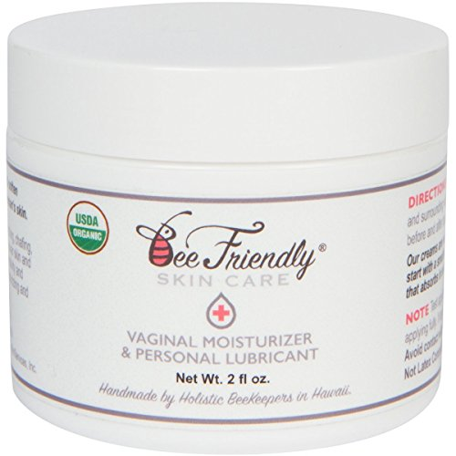 Organic Vaginal Health Moisturizer & Personal Lubricant By BeeFriendly, USDA Certified, Vulva Cream For Dryness, Itching, Irritation, Redness & Chafing Of Vagina Due To Menopause and Thinning 2 oz (Today Personal Lubricant)
