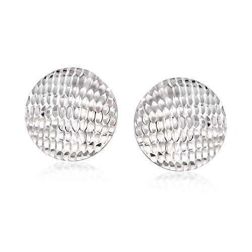 Ross-Simons Sterling Silver Textured Circle Disc (Textured Disc Earrings)