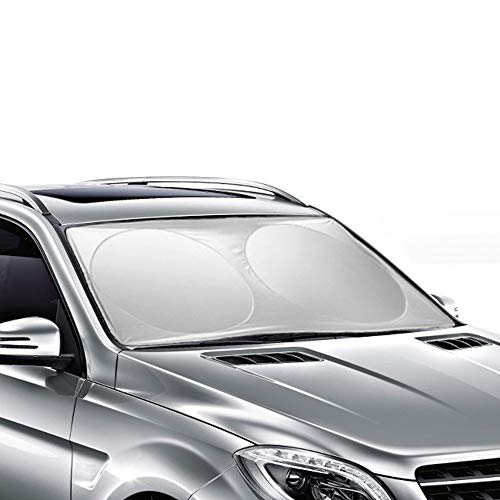 Ohuhu Auto Car Sun Shade Windshield Cover Visor Protector Sunshades Awning Shade, 65.7x36.4 Inches