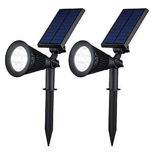 VicTsing Solar Powered LED Landscape Waterproof Spotlight (2 Pack)