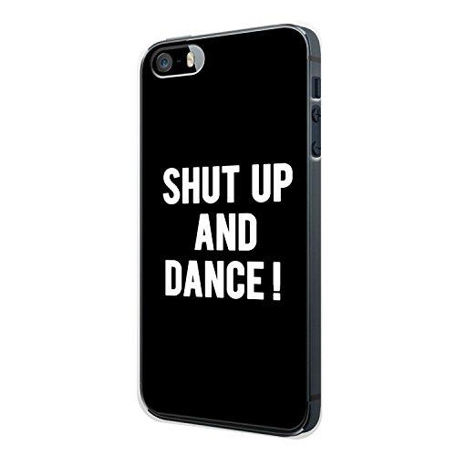 Shut Up And Dance ! Schwarz iPhone 4 / 4S Hülle Cover Case Schale Vintage Spruch Zitat Quote